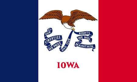 flat iowa state flag - usa Zdjęcie Seryjne