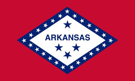 flat arkansas state flag - usa Zdjęcie Seryjne