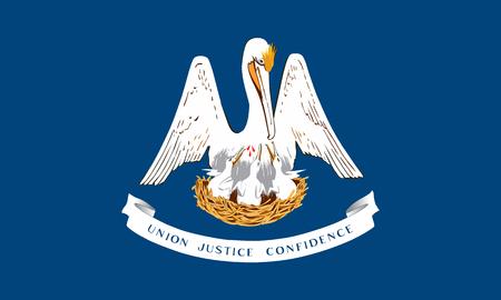 flat louisiana state flag - usa