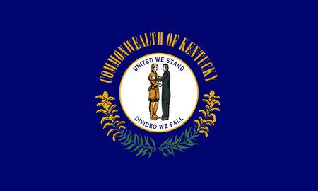 flat kentucky state flag - usa