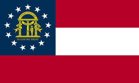 flat georgia state flag - usa Zdjęcie Seryjne