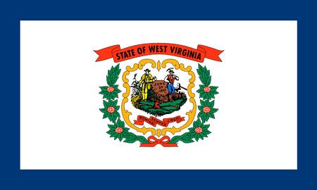 flat west virginia state flag - usa