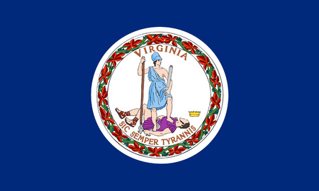 flat virginia state flag - usa