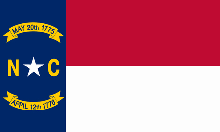 flat north carolina state flag - usa