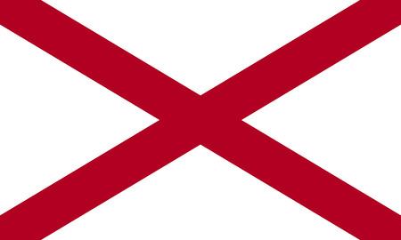 flat alabama state flag - usa