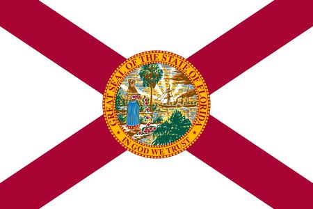 flat florida state flag - usa