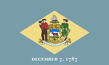 flat delaware state flag - usa