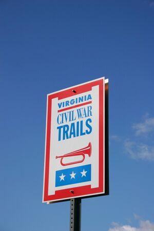 American Civil War Battlefield Sign with copyspace