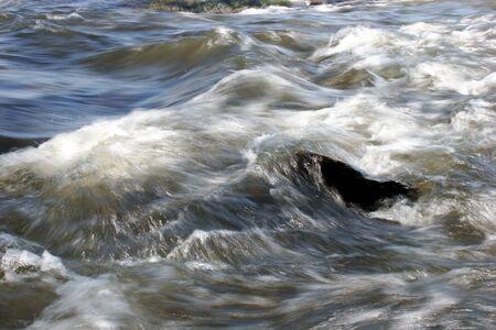 Closeup of James river rapids at flood stage. Фото со стока
