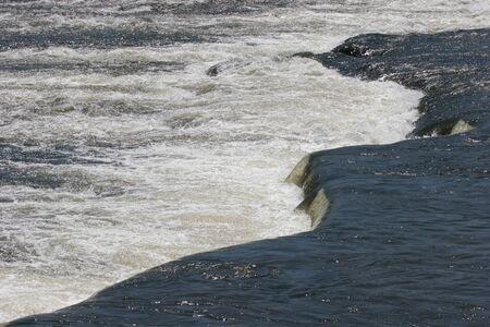 Richmond,Virginia/USA- June 3,2009: James river rapids at the Fall line in Richmond.
