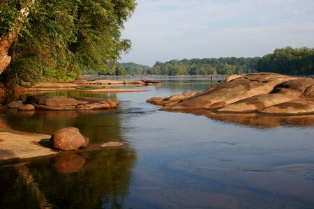 James river, near Richmond, Virginia