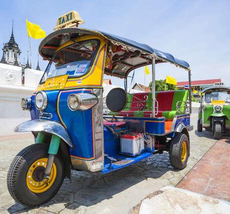 tuk tuk: Tuk-Tuk  vehicle urban in Bangkok Editorial