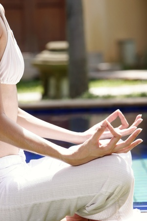 Woman meditating. Stock Photo - 11630060