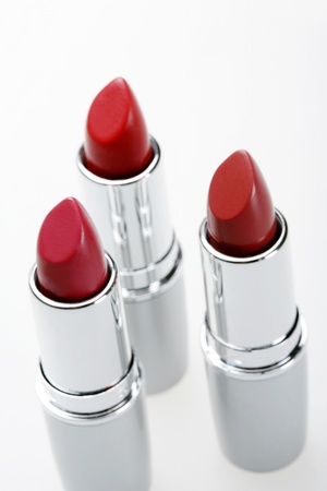 A close up photo of three lipsticks Stock Photo - 11630244