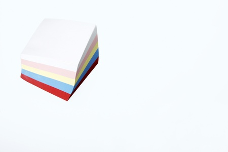 A stack of colourful notepad Stock Photo - 11630340