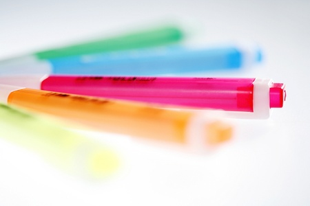 A shot of some colourful highlighter Stock Photo - 11630346