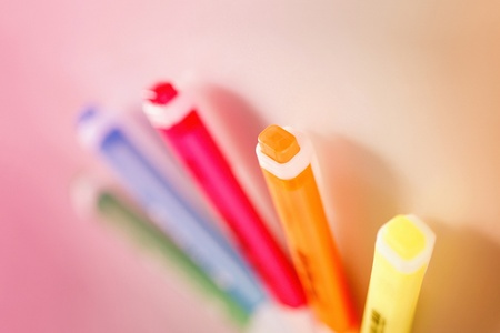 A shot of some colourful highlighter Stock Photo - 11630353