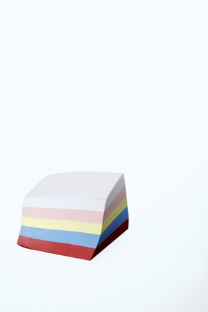 A stack of colourful notepad Stock Photo - 11630412