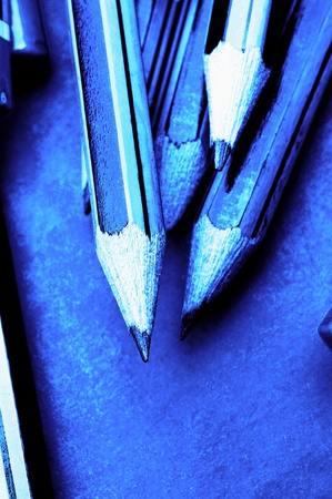 Studio shot of a few pencils on the table Stock Photo - 12593348