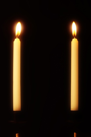 Two lit candles Stock Photo - 12593694