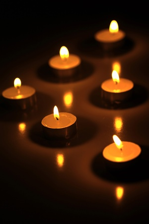 Lit candles Stock Photo - 12642176