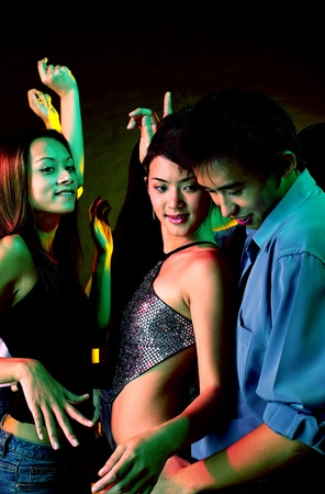 Teenagers partying in the club Stock Photo - 12642500