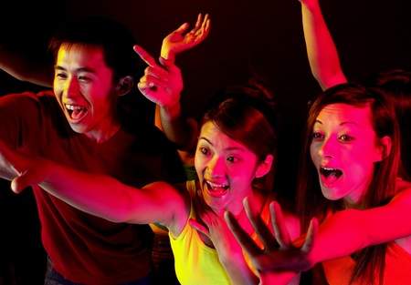Teenagers in a concert Stock Photo - 12642506