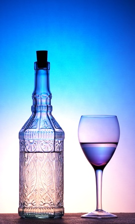Glass and bottle Stock Photo - 12642781