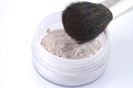 Powder and brush Stock Photo - 12642870