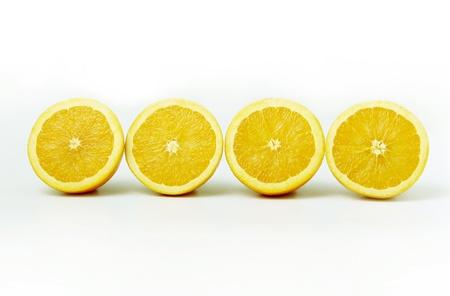 Four halved oranges Stock Photo - 12642983