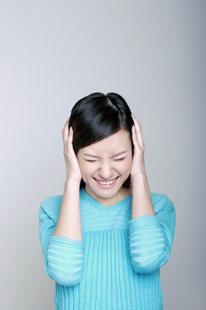 Stressed out woman. Stock Photo - 12644180