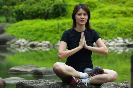 Woman meditating Stock Photo - 12644495