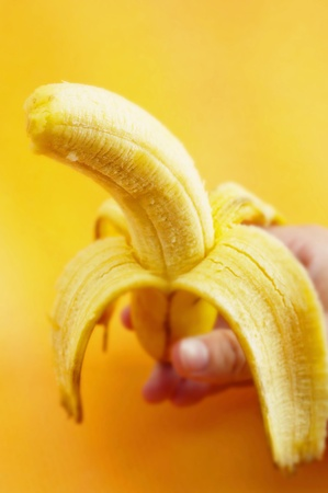 Peeled banana Stock Photo - 12644583