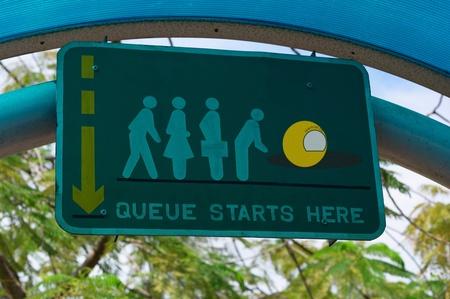 Queue starts here Stock Photo - 12644904