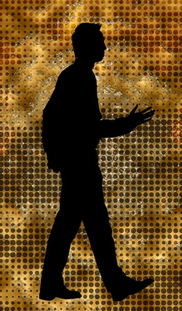 Silhouette of man walking Stock Photo - 12644925