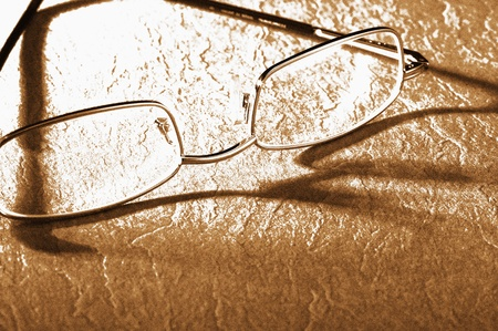 Spectacles and its shadow Stock Photo - 12645384