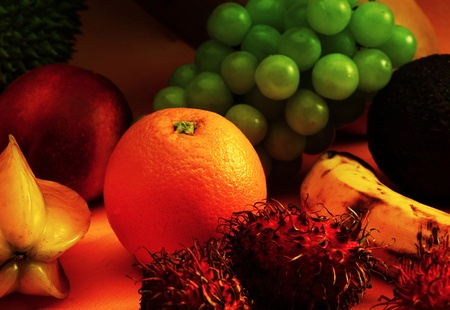 Various types of fruits on the table Stock Photo - 12645538