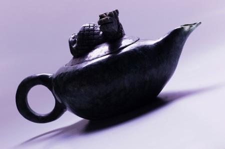 Side shot of an oriental teapot Stock Photo - 12645911
