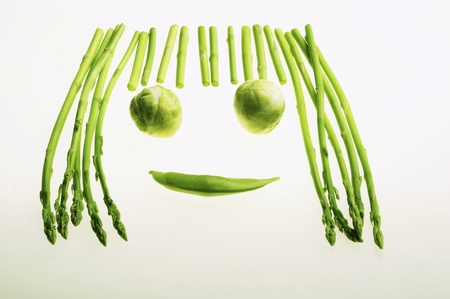 Forming a happy face with green vegetables Stock Photo - 12736024