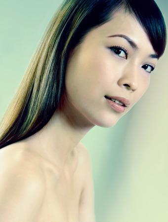 fair complexion: portraits of woman smiling