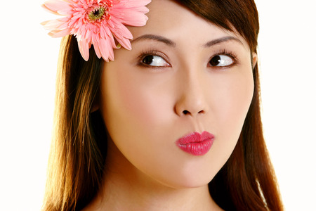 unblemished: portraits of a woman with flower on head
