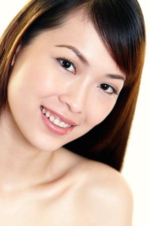 fair complexion: portraits of a woman smiling