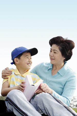 grandson: Woman and her grandson