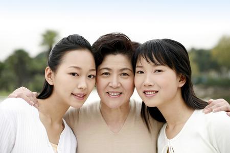 딸과 손녀와 여자 스톡 콘텐츠