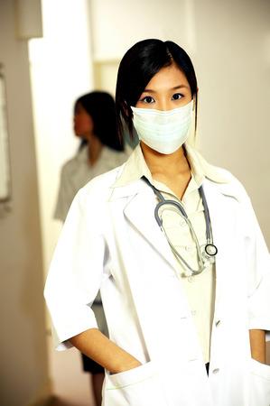 Female doctor wearing mask for hygiene purpose LANG_EVOIMAGES