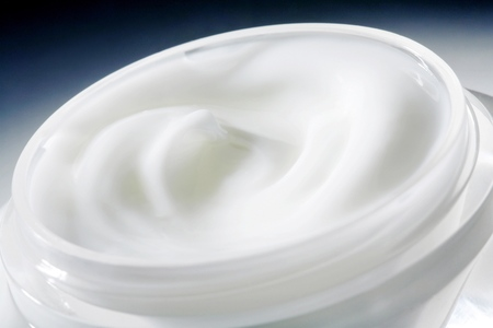 Close up of a jar of cream Stock Photo