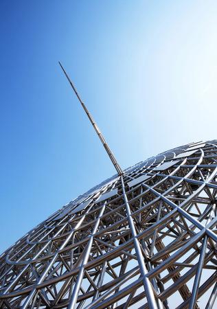 sundial: Modern sculpture of sundial, Shanghai LANG_EVOIMAGES