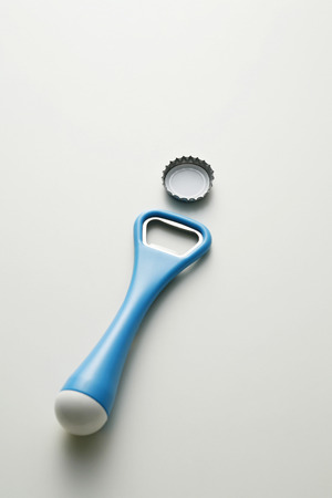 bottle cap opener: Bottle cap and bottle opener