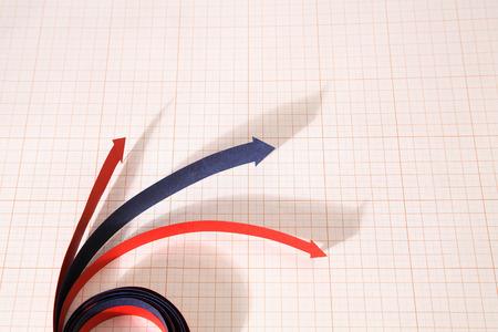 graph paper: Arrows on graph paper