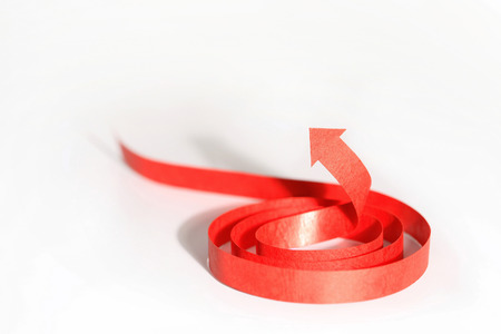 coiled: Red arrow coiled up LANG_EVOIMAGES